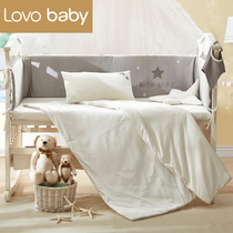lovobaby anti-collision baby bed set baby duvet cover bedding bed set