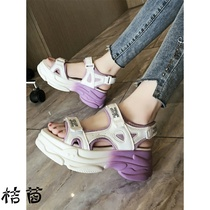 Daddy sandals girl summer ins trend 2020 new summer fashion net red super-fire thick beach sports sandals