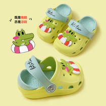 Baby slippers summer 1-3 years old 2 boys indoor home childrens hole Shoes baby toddler non-slip girls cool slippers