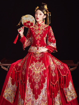 Xiu wo clothing bride 2019 New toast clothing Chinese wedding wedding dress out of the coat wedding dress crown Xia Qi female autumn