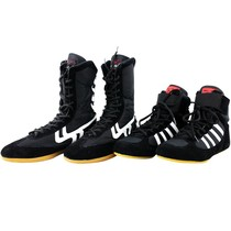 Children ladies lightweight breathable wrestling shoes boxing shoes boxing martial arts shoes comprehensive training fitness fighting shoes male