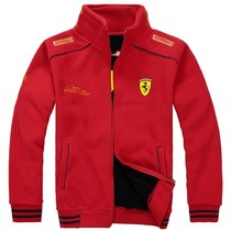 Spring and autumn models car overalls mens racing suits velvet jacket plus velvet jacket sweater motorcycle clothing