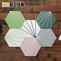 Simple Light Luxury Ray hexagonal Brick Kitchen color hexagonal tile restaurant bar wall tile balcony tile