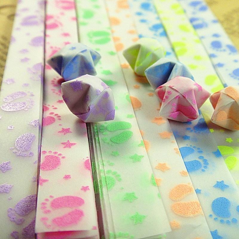1 Sac lumineux Lucky Star papier plié Lucky souhaite Star Origami Papier Coloré