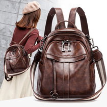 Small CK leather shoulder bag female 2019 new fashion bag wild Korean style large-capacity soft leather backpack