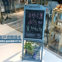 Advertising retro bracket Blackboard Cafe Shop Small retro vertical do old flower frame home board creative restaurant