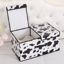 Storage box non-woven cloth large storage box stack storage box finishing box clothes storage box 2 grid double cover