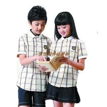 Nanning school uniform unified new version of hope summer short-sleeved plaid shirt shortskirt 2019