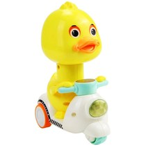 Cool stupide Meng drop-resistant bike Moto Jouet électrique voiture canard jaune drop-resistant funny full duck nourrissons