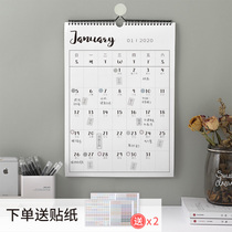2019 calendar ins wind plan table creative Nordic minimalist home wall decoration size number grid notes 365 days calendar punch record retro art 2020 annual calendar custom