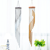 Metal wind chimes 12 silver tube wind chimes Birthday Gifts Home Creative wind chimes ornaments home decoration wind chimes