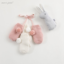 Mark Jenny 2019 new winter female baby cotton wool gloves baby gloves 92161
