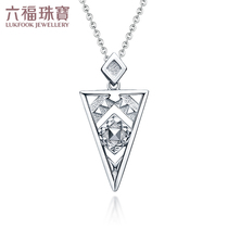 Liu Fu jewelry bohemian series geometry PT950 platinum pendant female models denominated GCPTBP0010