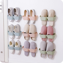 Light creative wall-mounted three-dimensional shoe rack home living room simple paste shoes storage rack bathroom slippers