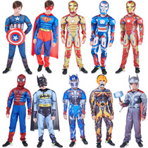 Halloween Kids Costume Boy Spider-Man clothes Avengers Alliance Iron Man Superman Captain America set