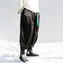 Season Wild EKC autumn new black retro overalls pants wide leg pants men Tide brand Tide