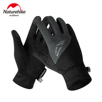 Running gloves men and women all refers to the outdoor winter warm touch screen climbing fleece riding non-slip football sports training