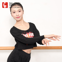 Buy three Get One Dance Love adult dance practice clothes female street dance Latin practice clothes shirt