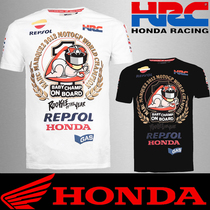 Summer Honda motorcycle riding short-sleeved T-shirt MOTOGP motorcycle fan clothing Street Sports Car Racing Team quick-drying clothes