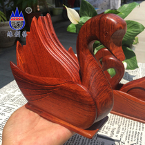 Mahogany cup cushion Myanmar pear tea tothe small swan 7 piece sheath cup mat big fruit eucalyptus wood cup tow.
