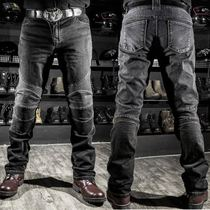 Riding jeans motorcycle male Knight equipment knee-length motorcycle anti-wrestling pants Cowboy off-road racing pants summer