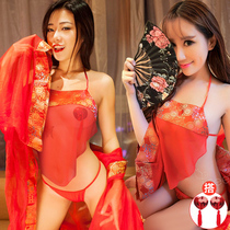 Belly-style lingerie flirting person hot sexy wedding dress court classic pajama dress female snob