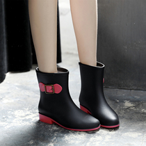 Fashion in the tube female boots women rain boots Women water shoes scrub rain boots non-slip spring and autumn short tube boots womens shoes shoes