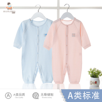 Baby jumpsuit spring summer autumn and winter models long-sleeved baby newborn baby clothes newborn cotton romper climbing clothes