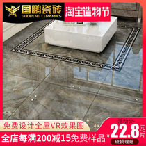 Guopeng anion whole body marble tile gray tiles 800X800 living room bedroom anti-skid floor tiles
