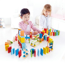 Hape building blocks Domino children creative agency paired colors cognitive counting design educational toys