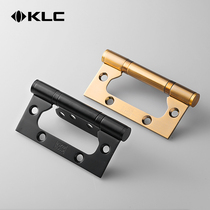 KLC stainless steel bearing hinges black loose-leaf slotted mute hinges 4-inch single piece