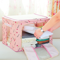 Clothes storage box Oxford textile fabric wardrobe quilt storage finishing box large special moving bag