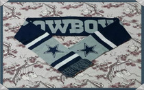 NFL Dallas Cowboys fans Memorial scarf official custom original single flag waist rugby olive British
