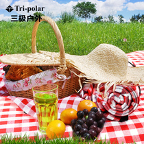 Red plaid picnic mat outdoor park thickening 5MM cushion crawling mats to increase 200*200CM moisture-proof mat