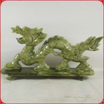 Natural Nanyu zodiac dragon pieces living room office residence Qinglong swing pieces jade crafts manufacturers.