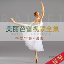 MHB beautiful Ballet Ballet Beautiful Private teaching Chinese full set of tutorials video attached curriculum Swan arm