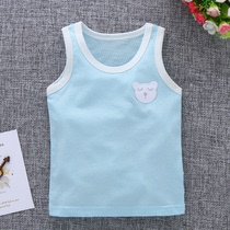 0 Baby Vest Summer ultra thin children sleeveless mesh female child 1-3 years old 5 summer Cotton 2 Baby 4 breathable