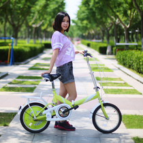 Official flagship store permanent foldable bike adult female Ultra Light portable 20-inch mini student small bike
