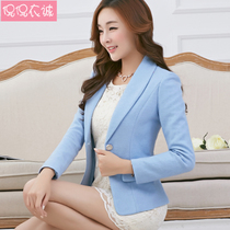 Jianxiaoqing Yi Cheng 2019 Spring New woolen jacket female suit Korean version of the slim woolen suit short paragraph small coat