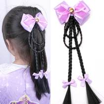 Snow anime princess hair accessories childrens baby hairpin twist wig braid bow hairpin side clip flower