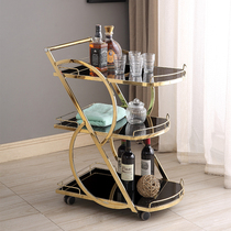 High-end hotel fashion restaurant delivery car stainless steel three-tier wine car tea car snack 4S shop trolleys