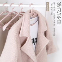 Thickened wide shoulder seamless plastic suit hanger wardrobe clothes hanging adult home clothes coat rack clothes rack