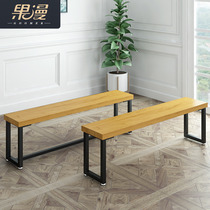 Balcony bench bench restaurant bench dressing room bench solid wood shoe stool simple modern bench