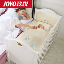Multi-function baby bed solid wood European Environmental Protection baby bed multi-function BB bed newborn cradle bed with roller
