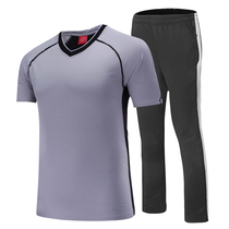 Short-sleeved shirt professional basketball referee Suit suit casual sports T-shirt male breathable quick-drying short-sleeved sports trousers