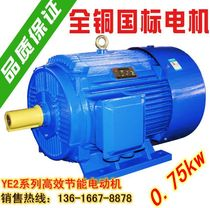 Three-phase asynchronous motor Y2 series Motor new copper GB Y80m-4 pole 0 75KW kW copper core 380v