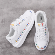 OKU Lion 2018 new spring white shoes female Korean version of the wild sports shoes female students white Harajuku shoes