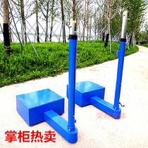 Mobile lifting air volleyball column game volleyball net column in-line counterweight volleyball rack imitation Jinling