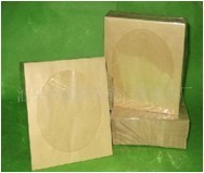 80g kraft paper bag disc fenestration cowhide bag disc bag disc packaging CD protective film 100 pack