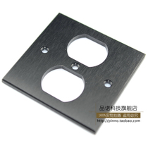 Aluminum alloy into the wall power socket panel wall plug panel American standard panel black and white optional